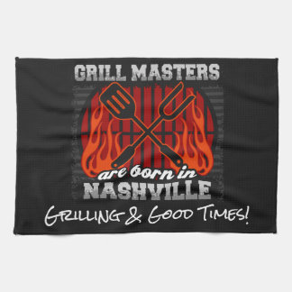 Grill Masters Are Born In Nashville Tennessee Tea Towel