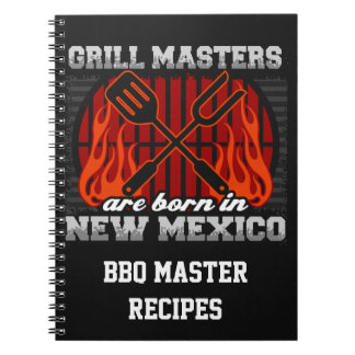 Grill Masters Are Born In New Mexico Personalized Notebooks