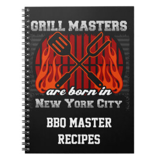 Grill Masters Are Born In New York City Spiral Notebook