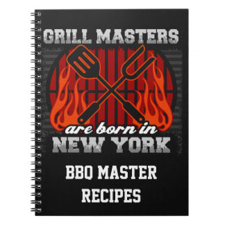 Grill Masters Are Born In New York Personalized Notebook