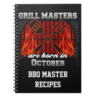 Grill Masters Are Born In October Personalized Notebooks