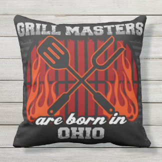 Grill Masters Are Born In Ohio Cushion