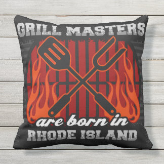 Grill Masters Are Born In Rhode Island Outdoor Cushion