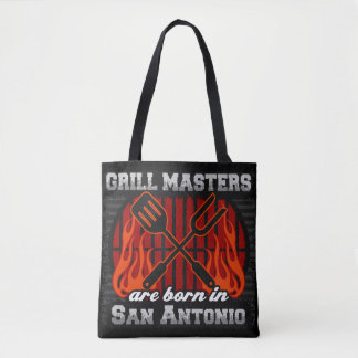 Grill Masters Are Born In San Antonio Texas Tote Bag