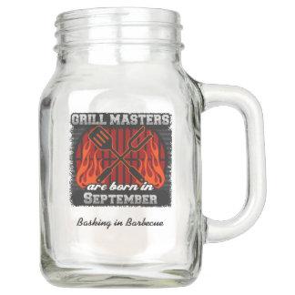Grill Masters Are Born In September Add A Slogan Mason Jar