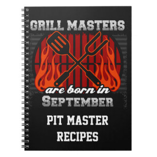 Grill Masters Are Born In September Personalized Notebook