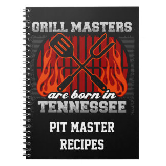 Grill Masters Are Born In Tennessee Personalized Notebook