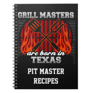 Grill Masters Are Born In Texas Personalized Notebook