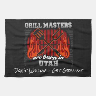 Grill Masters Are Born In Utah Add A Slogan Tea Towel
