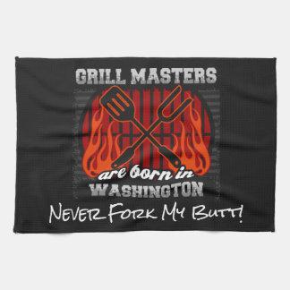 Grill Masters Are Born In Washington Add A Slogan Tea Towel