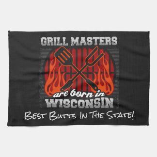 Grill Masters Are Born In Wisconsin Add A Slogan Tea Towel