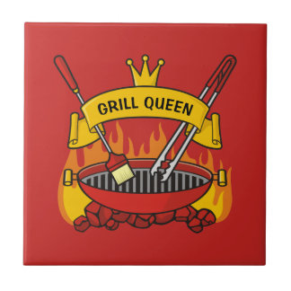 Grill Queen Ceramic Tile