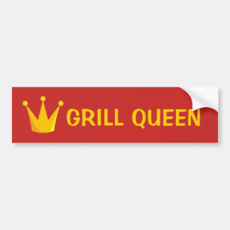 Grill Queen Crown Bumper Sticker