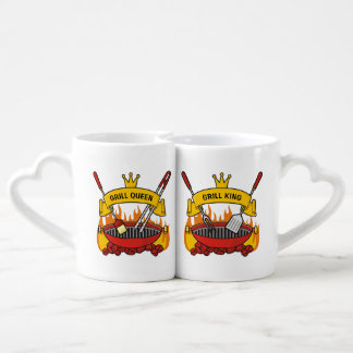 Grill Queen, Grill King Coffee Mug Set