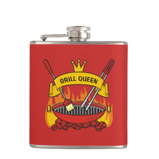 Grill Queen Hip Flask