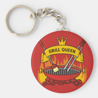 Grill Queen Key Ring