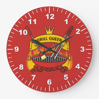 Grill Queen Large Clock