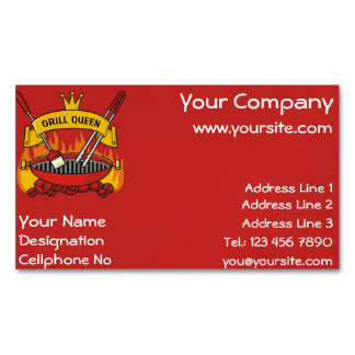 Grill Queen Magnetic Business Card