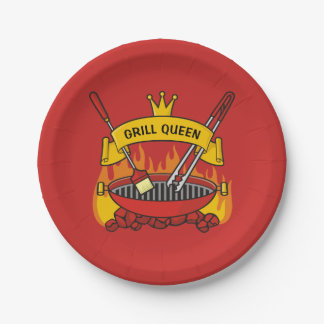 Grill Queen Paper Plate
