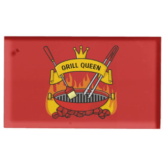 Grill Queen Table Card Holder