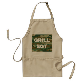 Grill sergeant BBQ apron with army camouflage