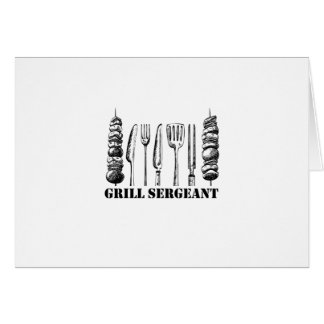 Grill Sergeant BBQ Grilling Hobby Funny  Men Women Card