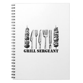 Grill Sergeant BBQ Grilling Hobby Funny  Men Women Spiral Notebook
