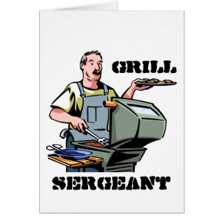 Grill Sergeant Father's Day Card