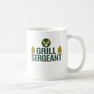 Grill Sergeant Classic White Coffee Mug