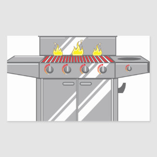 Grill Super Rectangular Sticker