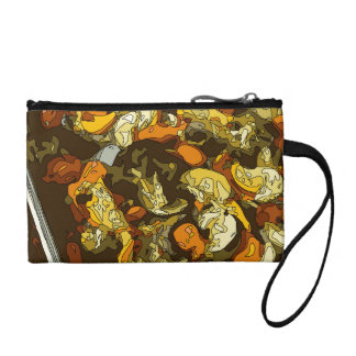 Grilled Carrots Zucchini and Mushroom Dish Coin Purses