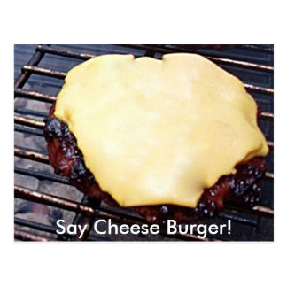 Grilled Cheese Burger Card Postcard