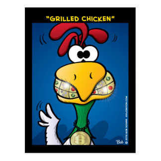 """Grilled Chicken"" Postcard"