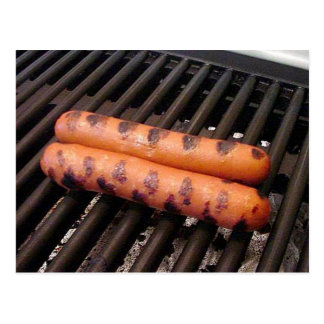 Grilled Hot Dogs Postcard