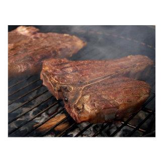 Grilled Porterhouse Steak Card Postcard