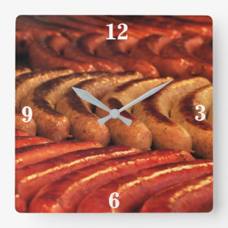 Grilled Sausage Clock