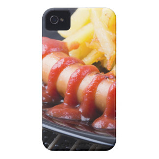 Grilled sausages and fried potato iPhone 4 Case-Mate case