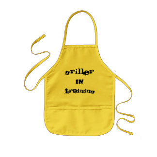 griller in training kids apron