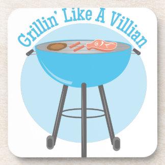 Grillin Villian Drink Coasters