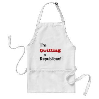 Grilling a Republican - Funny Political Quote Standard Apron