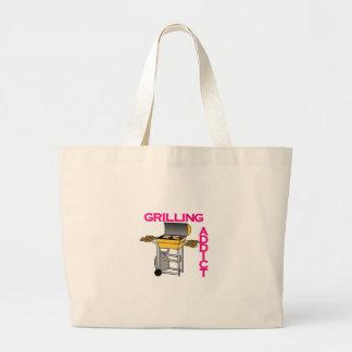 Grilling Addict Jumbo Tote Bag