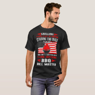 Grilling Finesse Stacking Coals Grillmaster Bbq T-Shirt