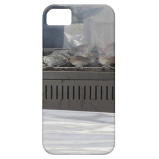 Grilling fish outdoors barely there iPhone 5 case