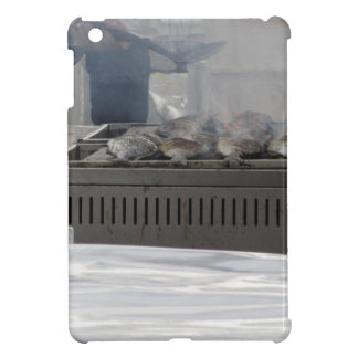 Grilling fish outdoors iPad mini cover