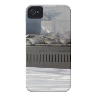 Grilling fish outdoors iPhone 4 case