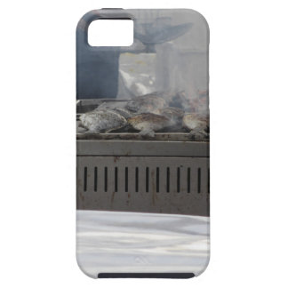 Grilling fish outdoors iPhone 5 cover