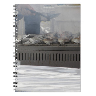 Grilling fish outdoors notebook