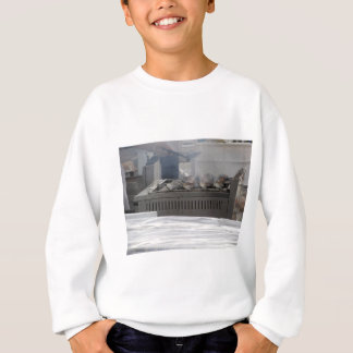 Grilling fish outdoors sweatshirt