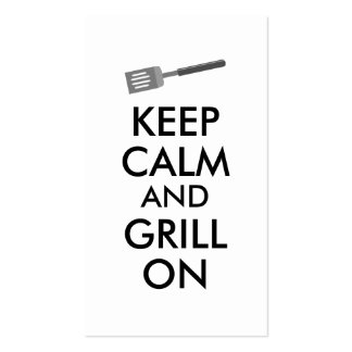 Grilling Keep Calm and Grill On Barbecue Spatula Pack Of Standard Business Cards