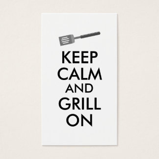 Grilling Keep Calm and Grill On Barbecue Spatula Business Card